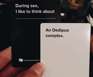 psychology, cards against humanity, and oedipus complex image