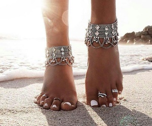 beach, summer, and ring image