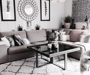 house, decor, and grey image
