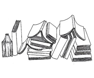 books, overlay, and reading image