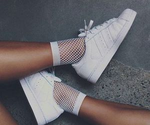adidas, white, and fashion image