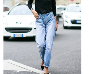 style fashion and mum jeans image