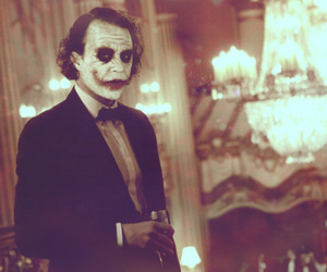 joker, heath ledger, and batman image