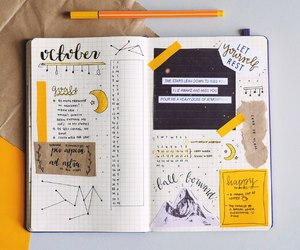 journal, yellow, and bullet journal image