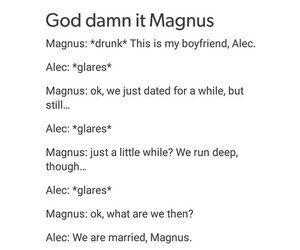 ship, alec lightwood, and maleç image