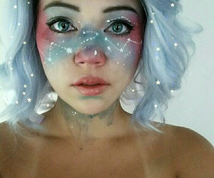makeup, Halloween, and galaxy image