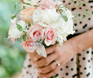 bouquet, roses, and flower image