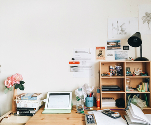 book, desk, and college image