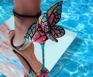 butterfly, shoes, and beauty image