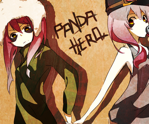 anime, nice, and panda hero image