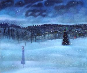 alone, christmas tree, and christmas image