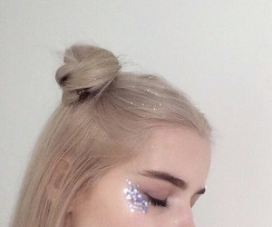 girl, glitter, and hair image