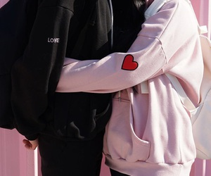 couple, boy, and pink image
