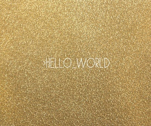coding, glitter, and gold image