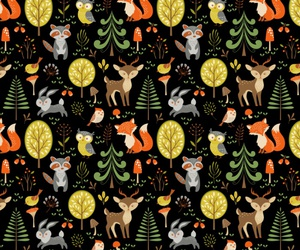 animals, background, and forest image