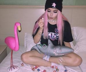 pink, tumblr, and girl image