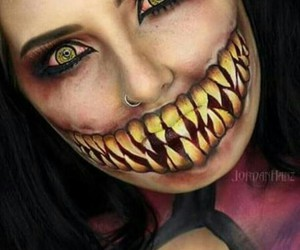 Halloween, halloween costume, and makeup image