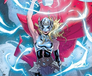 character design, thor, and lightning image