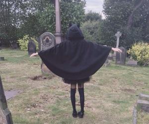 black, cemetery, and dark image