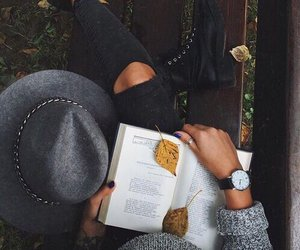autumn, book, and reading image