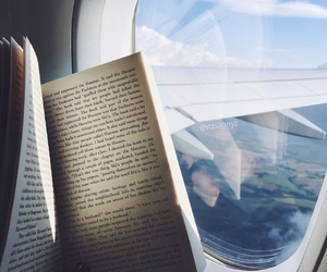 airplane, book, and grunge image