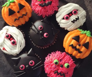 Halloween, food, and cupcake image
