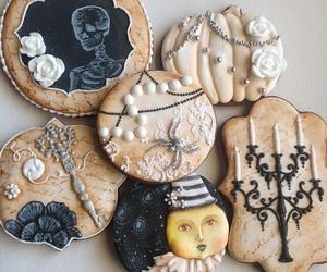 black, Cookies, and food image