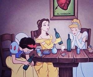 princess, disney, and drunk image