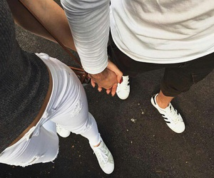 love, couple, and style image