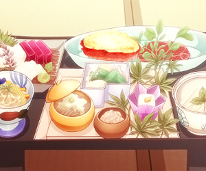 food and anime image