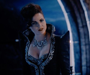 once upon a time, regina mills, and evil boobs image