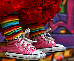 converse, pink, and stripes image