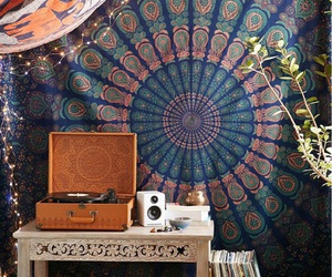 boho, room, and hippie image