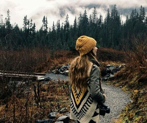 automn, girl, and mood image
