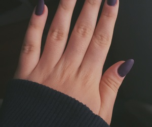hand, nails, and purple image