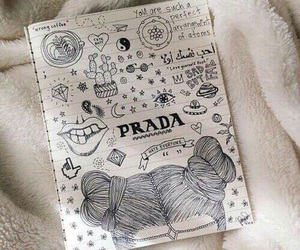 drawing, Prada, and art image