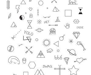 tattoo, stick n poke, and ink image