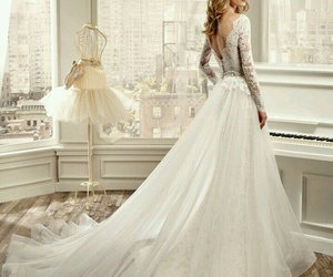 romantic wedding dress image