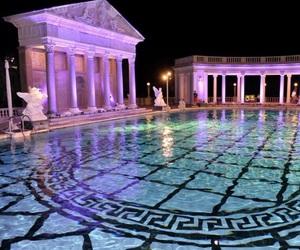pool, luxury, and Versace image