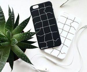white, black, and case image