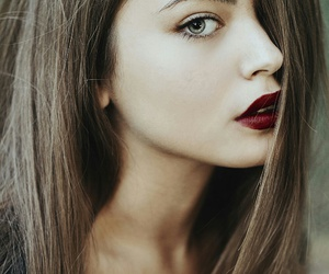 beauty, woman, and eyes image