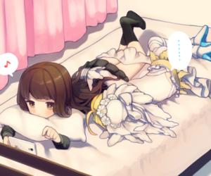 nero, saber, and hakuno kishinami image
