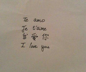 love, I Love You, and te amo image