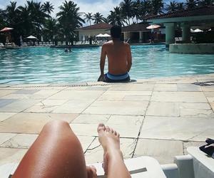 beach, pool, and piscina image