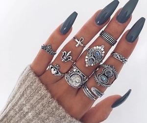 nail polish, cute, and nails image
