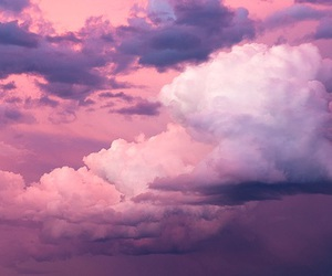 clouds and pink image