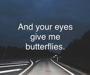 butterflies, eyes, and love image