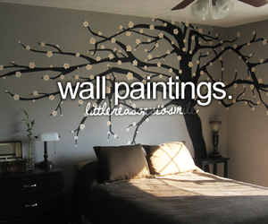 Wall painting, bedroom, and room image