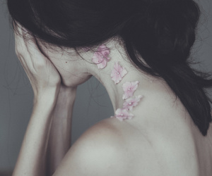 back, poetic, and flowers image