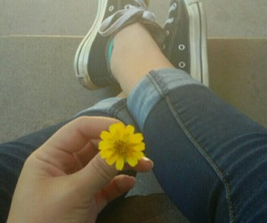 converse, sun, and flower image